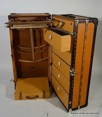 Louis Vuitton Wardrobe Trunk in Orange Vuitonitte
