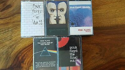 5 pink floyd cassette collection