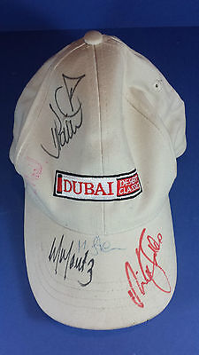 Golf Cap / Hat Autographed By Nick Faldo & Others From Dubai Desert Classic