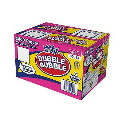 Dubble Bubble 5400 pcs 6 Assorted Flavor Tab Gum Free Shipping