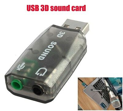 External 3D 5.1 Channel Sound Card Adapter Pc Audio External Sound Card