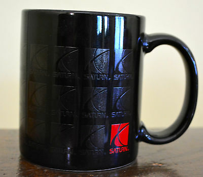 SATURN Black Mug Car LOGO Company Novelty Coffee Cup Ceramic Advertising