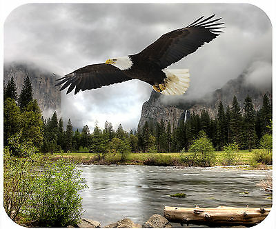 Mouse Pad Personalized Custom Thick Mousepad-Bald Eagle At A Yosemite River