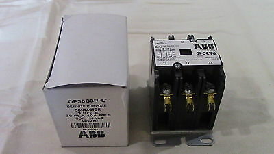 Abb Dp30c3p-C 30 Amp, 3 Pole 277v Coil, Definite Purpose Contactor New