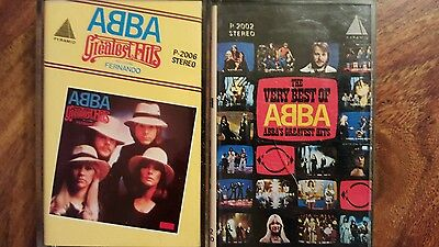 2 Extremely rare Abba cassette from pyramid studio (late 70's)