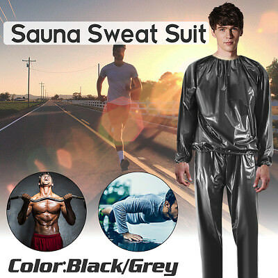 Heavy Duty Sweat Sauna Suit Anti-Rip Gym Fitness Exercise Fat Burn Weight Loss