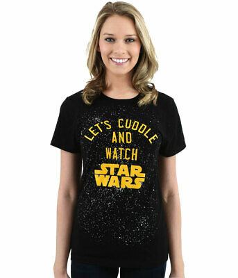 Let's Cuddle and Watch Star Wars Junior Women's T-Shirt