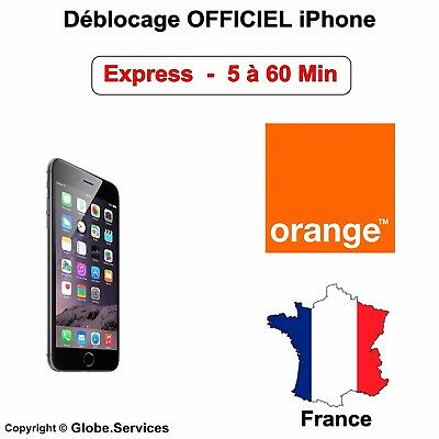 Déblocage Désimlockage Orange France iPhone 3G 3Gs 4 4s 5 5C 5S 6 6+ 6s 6s+ SE