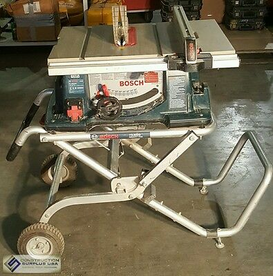Bosch 4100 10 In. Worksite Table Saw with Gravity Rise Wheeled Stand