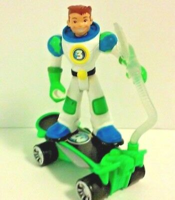 "Fisher Price Planet Heroes #3 Earth 5"" Action Figure with Vehicle EUC"