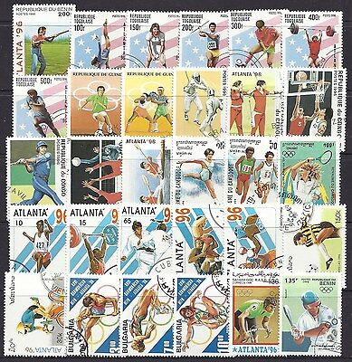 Packet of 30 Different OLYMPIC GAMES SPORT Stamps - ideal for CHRISTMAS STOCKING