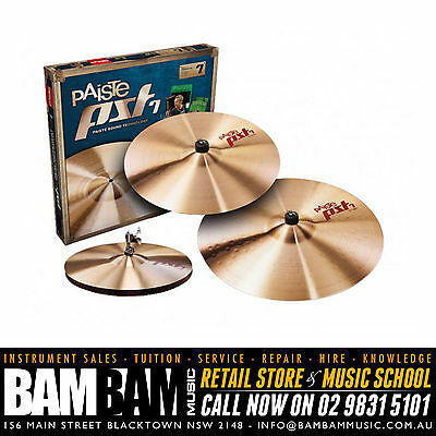 "Paiste PST7 Universal Cymbal Set - 14"" Hi-Hat / 16"" Crash / 20"" Ride"