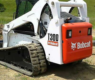 Bobcat skidsteer T300 track loader decal kit