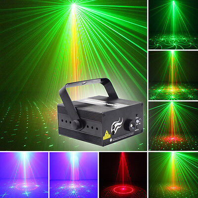 Laser Projector Stage Light 2Lens 16 Patterns R+G Lighting Xmas Party Disco HOT