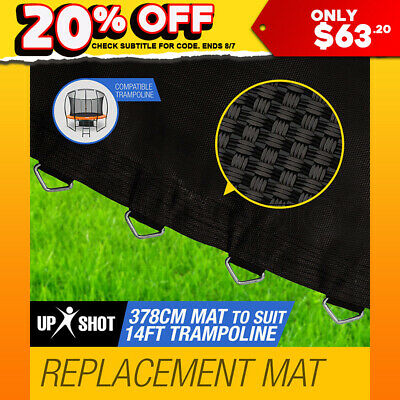 NEW Up-Shot 14ft Replacement Trampoline Mat - 88 Spring Round Spare Foot Parts