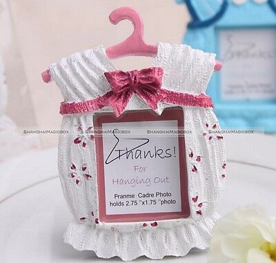 Resin Baby Girl/Boy Shower Favors Cute Baby Dress Photo Frame Shower Favors