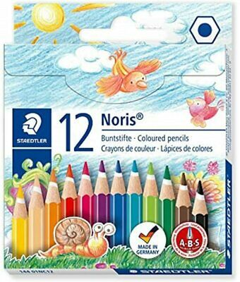 Staedtler Noris Club Half Length Coloured Pencil, 12 Pack