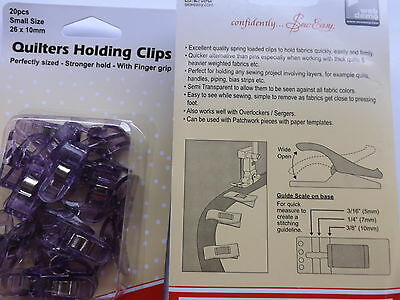 Sew Easy Quilters Holding Clips Small 26 x 10mm  20 piece  Purple