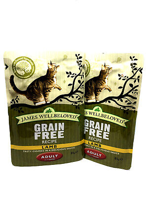 James Wellbeloved Cat or Kitten pouches - Turkey or Lamb - 85g x 2 pouches