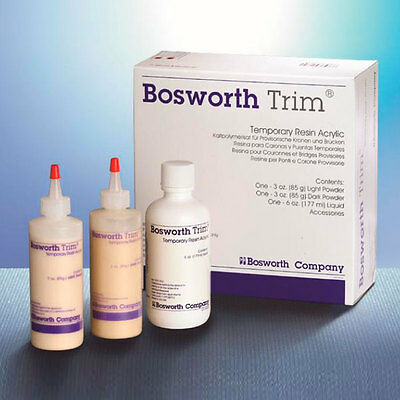 TRIM BOSWORTH ACRILICO PROVISIONALES. 2x85 gr + 177 ml. DENTAL TEMPORARY RESIN.