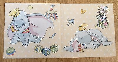 4 Gorgeous Disney Dumbo Paper Napkins *Party Decoupage*