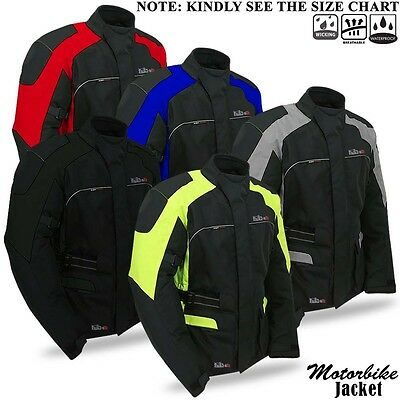 Motorbike Motorcycle Jacket Textile Waterproof Breathable With CE Protector