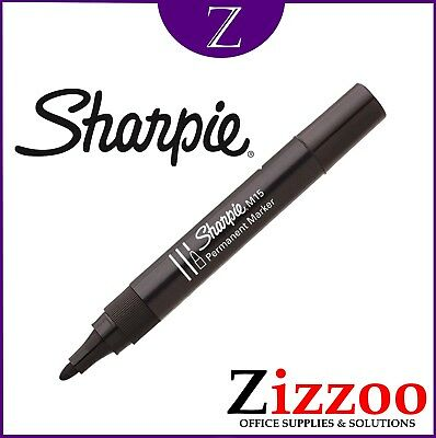 Sharpie M15 Permenant Markers Pens In Black With Strong Bullet Tip
