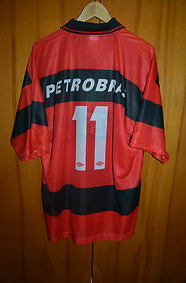Flamengo Brazil 1999 No Match Worn Home Football Shirt Camiseta Jersey Umbro #11