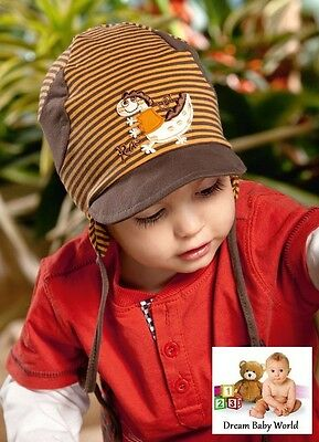 COTTON baby boys hat spring / autumn 3 - 18 months NEW with tags! TIE UP