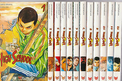 HIGH SCHOOL tomes 1 à 12 Jeon Sang Young Kim Young Oh MANGA SERIE COMPLETE
