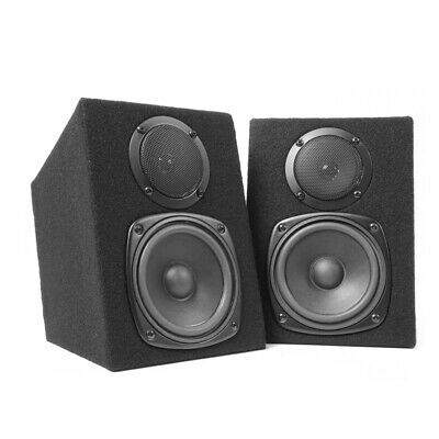 Pair Skytec 2-Way Passive Home DJ MC Studio Monitor Speakers 8 Ohm 2x100W Power