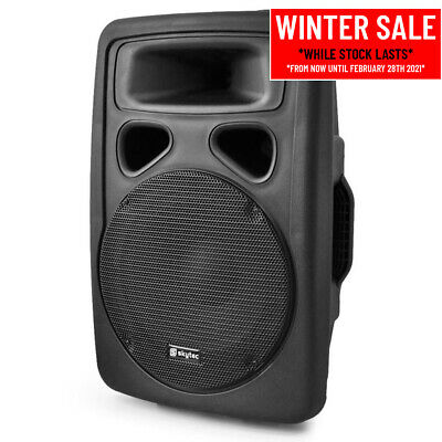 """Skytec SP1000A Hi-End Active Powered PA DJ Disco Party 10"""" ABS Speaker 400W"""