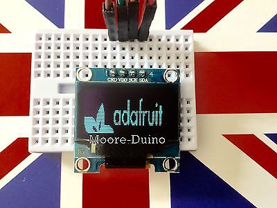"White 128X64 OLED LCD LED Display Module For Arduino 0.96"" I2C IIC Serial UK New"