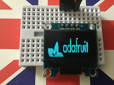 "Yellow Blue 128X64 OLED LCD LED Display Module For Arduino 0.96"" I2C IIC Serial"
