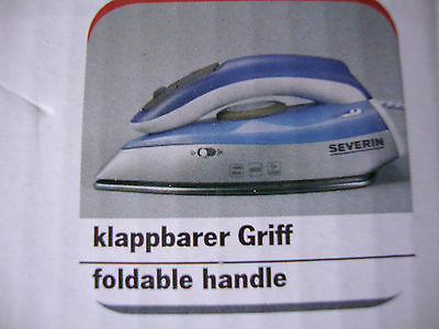 Travel Steam Iron - Dual Voltage - 1000W - Foldable Handle.