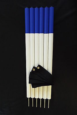 Jump4Joy Dog Agility Training Equipment 6 Weave Poles With Spacer