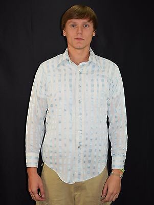 Vintage 70's Men's Now Breed Stripe Button Down Dress Shirt by CAMPUS Size M