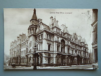 R&L Postcard: Liverpool General Post Office Real Photo, Valentines