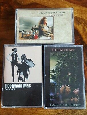 3 Fleetwood Mac cassette-rumours(usa),tango night(can),behind mask(germany)