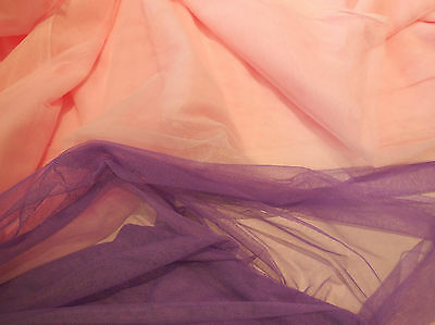 Lilac purple OR baby pink Soft Tulle Fabric for Dress making Sold per 0.5 Meter