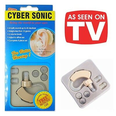 *uk* As Seen On Tv Behind Ear Mini Micro Sound Amplifier Hearing Aid & Batteries