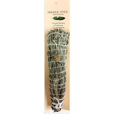 Smudge Stick LAVENDER, ROSEMARY & FRANKINCENSE Incense Spiritual House Cleansing