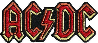 19031 ACDC Hard Rock And Roll Lighting Bolt Classic 70s Music Band Iron On Patch