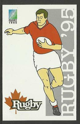 SOUTH AFRICA 1995 RUGBY WORLD CUP CANADA Pre Stamped POSTCARD