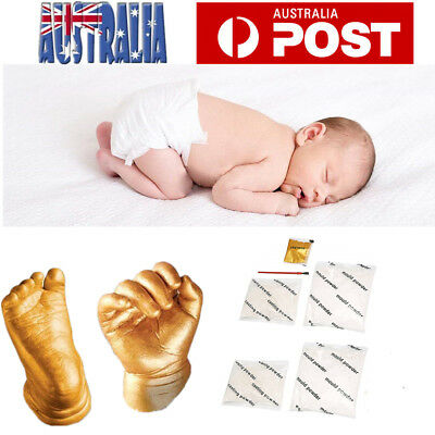 3D Baby Casting Kit Hand Foot Moulding Casting Powder Pigment Material Kit AU