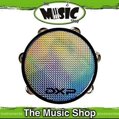 """New DXP 8 1/2"""" Tambourine with Holographic Pattern Head - UE812"""