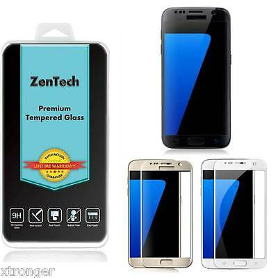 2X ZenTech Tempered Glass [FULL COVER] Screen Protector For Samsung Galaxy S7
