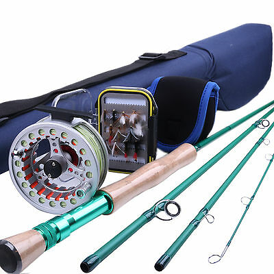 8WT Fly Rod And Reel Combo 9FT Fly Rod & Pre-spooled Fly Reel & Fly Box & Flies