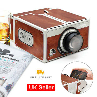 2.0 Cinema In A Box Smartphone Projector Preassembled Fits iPhone Samsung  in UK
