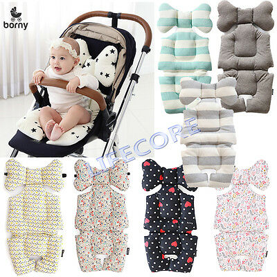 Baby Kid Infant Stroller Car Seat Bouncer Liner Pad Cover Head Rest Cushion Mat